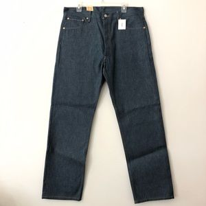 NEW Levi's 501 Butttonfly Shrink to Fit 36x32 Dark